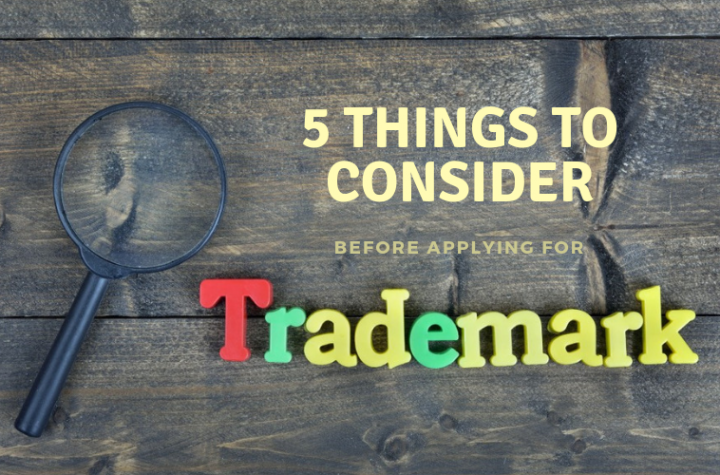 Things to consider before trademark registration application
